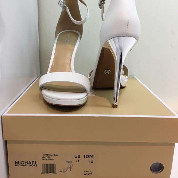 Michael Kors Hutton Sandal Optic White